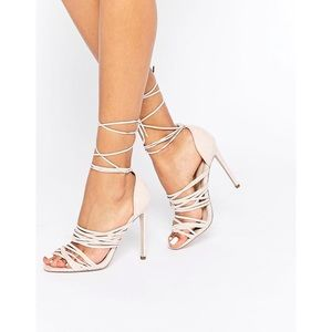 ASOS  •  Hazy Lace-Up Sandal Heels